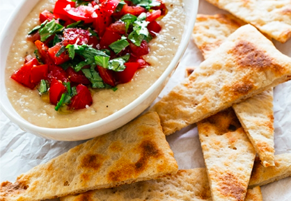 Planet-Friendly Hummus Pomodoro by Chef Chloe Coscarelli