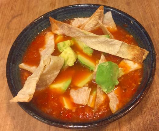 Planet-friendly Tortilla Soup