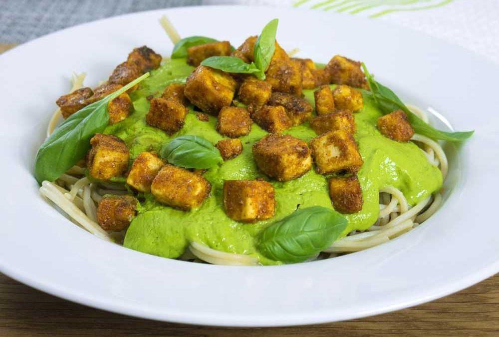 Avocado Basil Pesto by Exceedingly Vegan