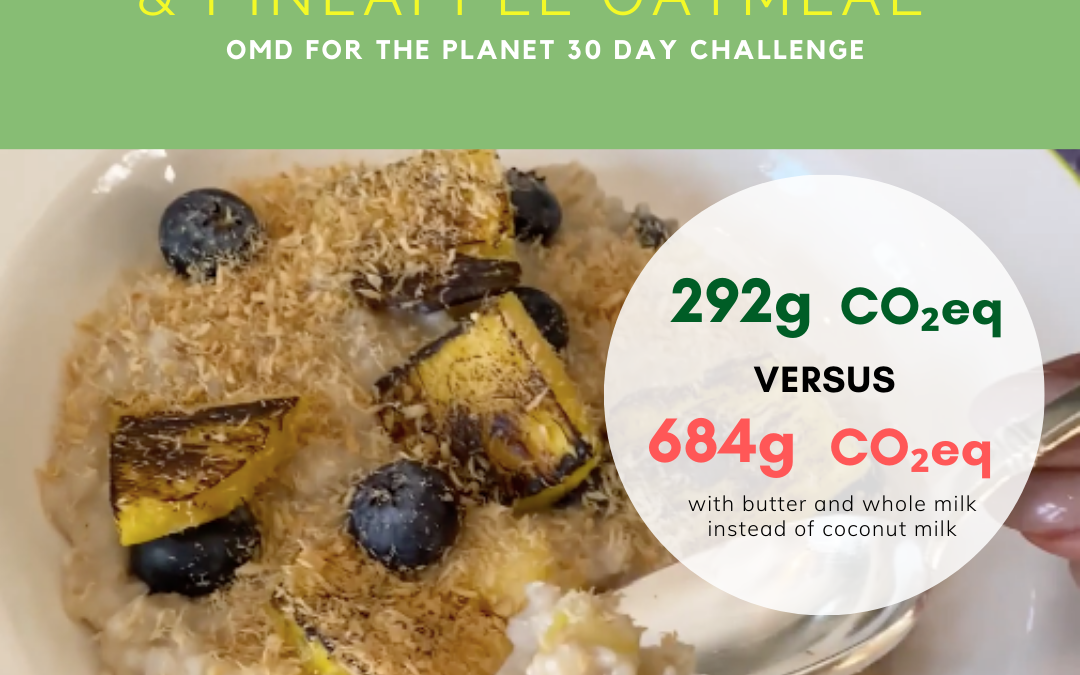 Day 6 of Oprah's 30 day OMD for the planet challenge